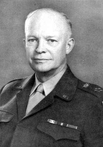 El presidente de Estados Unidos Dwight Eisenhower