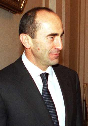 El presidente armenio Robert Kotcharian